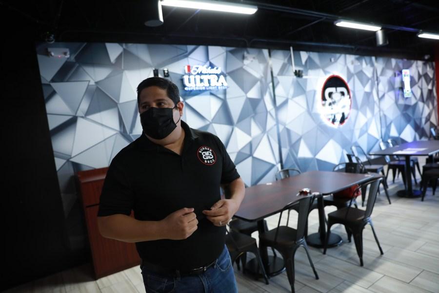 Edgar Garcia shows KTSM 9 News a look at the Burger Bros. restaurant.