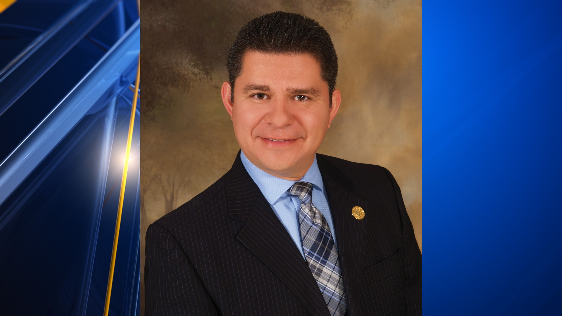 A portrait of Michael Najera a recently appointed SISD trustee