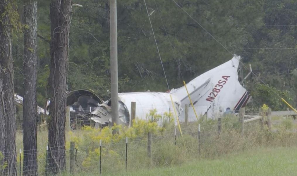 Wreckage of El Paso based cargo plane